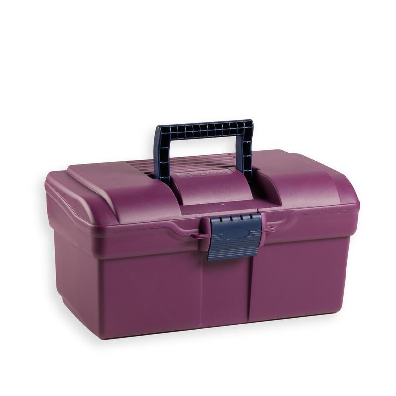 Box na jezdecké čisticí pomůcky 300 fialovo-modrý