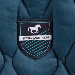 Tapis de selle équitation cheval et poney 500 bleu pétrole