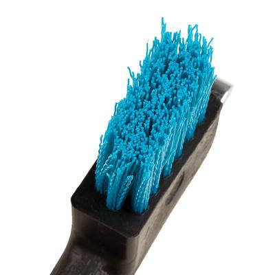 Cure-pied brosse équitation bleu turquoise