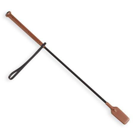 Cravache équitation 500 marron  - 58 cm