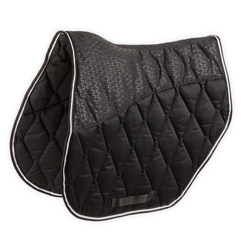 HORSE SADDLE PADS Horse Riding - Saddle Cloth Jump 500 - Black FOUGANZA - Saddlery and Tack