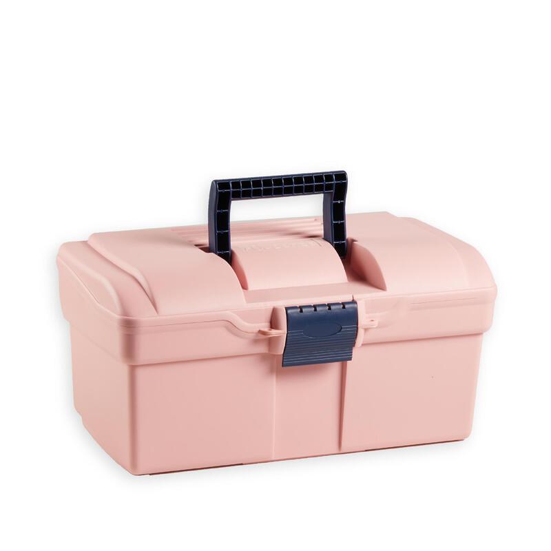 Box na jezdecké čisticí pomůcky 300 růžovo-modrý