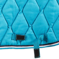 Horse Riding Saddle Cloth 500 for Horse and Pony - Turquoise