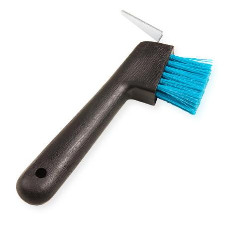 Cepillo limpiacascos equitación fouganza Azul Turquesa