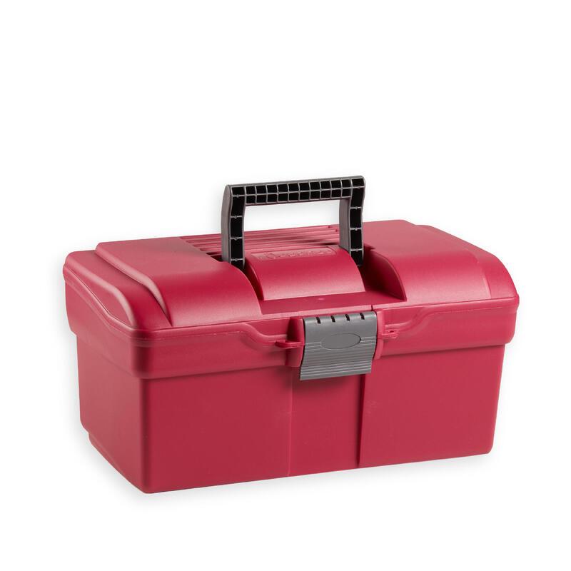 Box na jezdecké čisticí pomůcky 300 fialovo-šedý