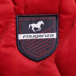 Tapis de selle équitation cheval et poney 500 rouge