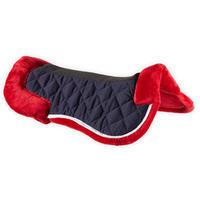 Horse & Pony Synthetic Sheepskin Saddle Pad 500 - Garnet Red