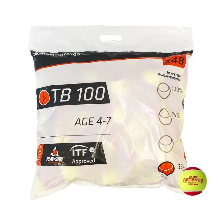 網球(48入)TB100-紅色