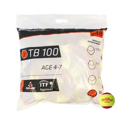Tennisballen TB100 48 stuks rood
