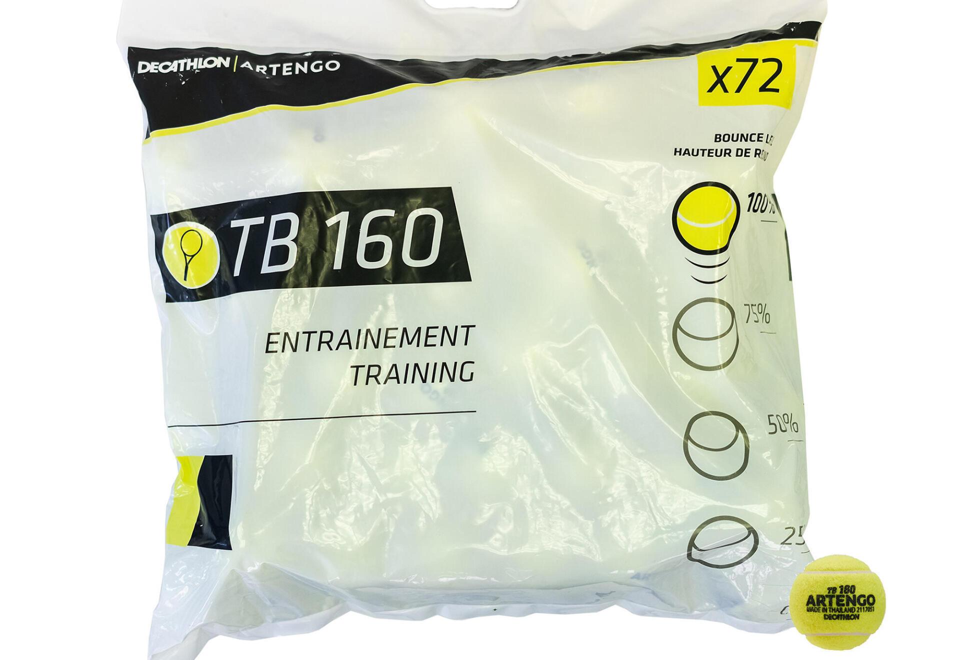 tb160 tennis yellow pressureless ball in bag