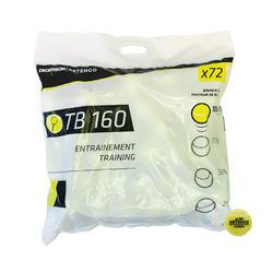 Tennisballen TB160 72 stuks geel