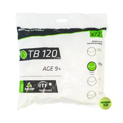 Tennisballen TB120 72 stuks groene stip