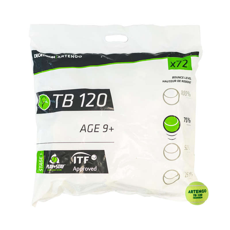 TENNIS BALLS Tennis - TB120 * 72 ARTENGO - Tennis Accessories