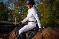 Guantes equitación 900 mujer negro