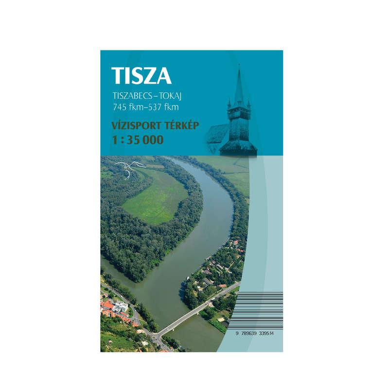 térképek Túrázás - Tisza vízisport térkép CARTOGRAPHIA - Túra felszerelés