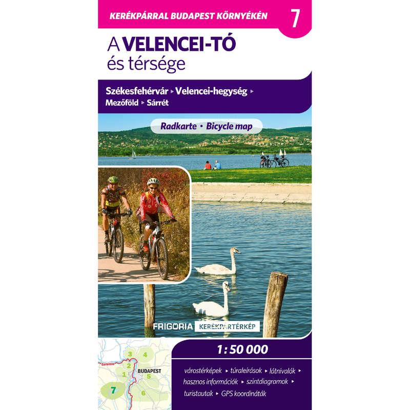 térképek Kerékpározás - Velencei-tó és térsége térkép CARTOGRAPHIA - Kerékpár kiegészítők