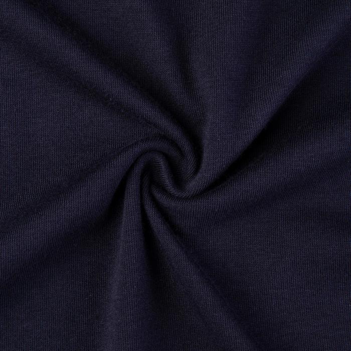 500 Slim-Fit Pilates & Gentle Gym T-Shirt - Navy Blue