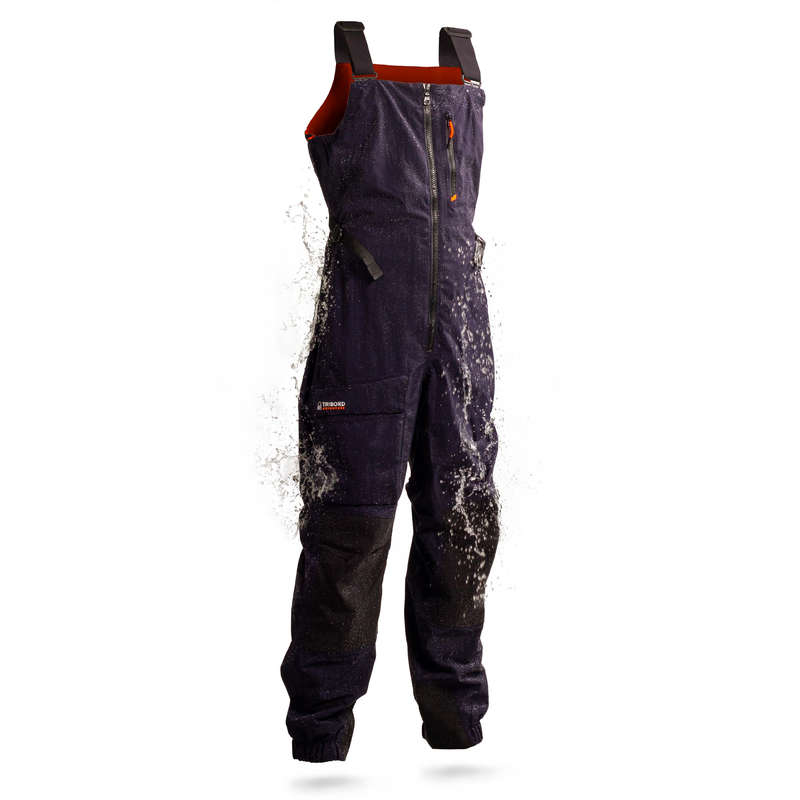 CRUISING RAINY WEATHER MAN CLOTHES Sailing - Sailing 500 M Salopettes Navy TRIBORD - Sailing Clothing