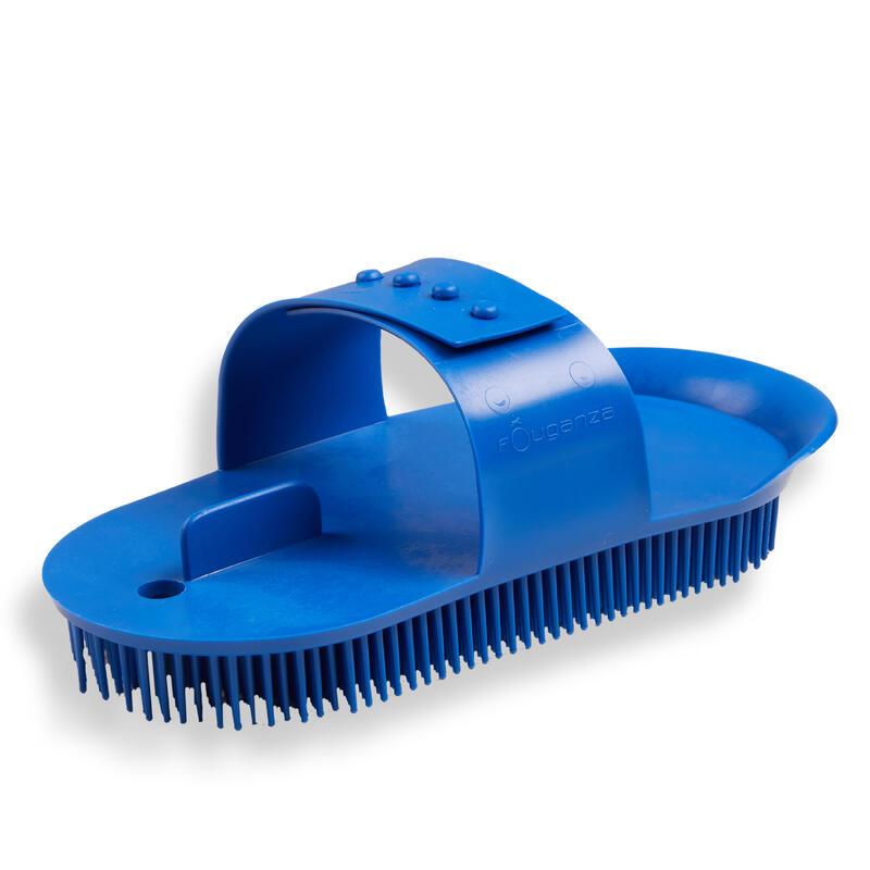 Hřbílko na čištění koní SCHOOLING velké modré