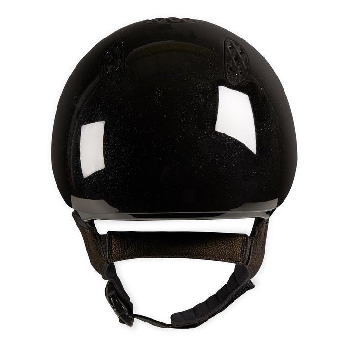 Casque équitation adulte et enfant 520 noir glossy