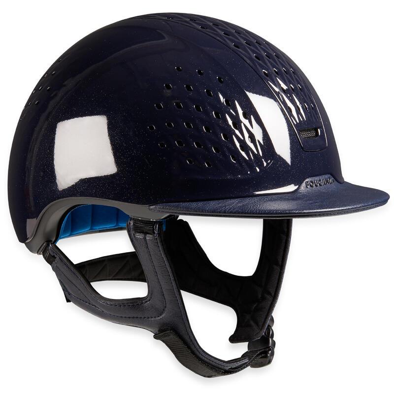 Casco Equitación 900 Azul Brillante + Bolsa