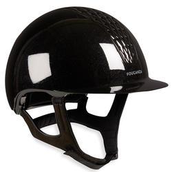 Paardrijcap 520 glossy zwart