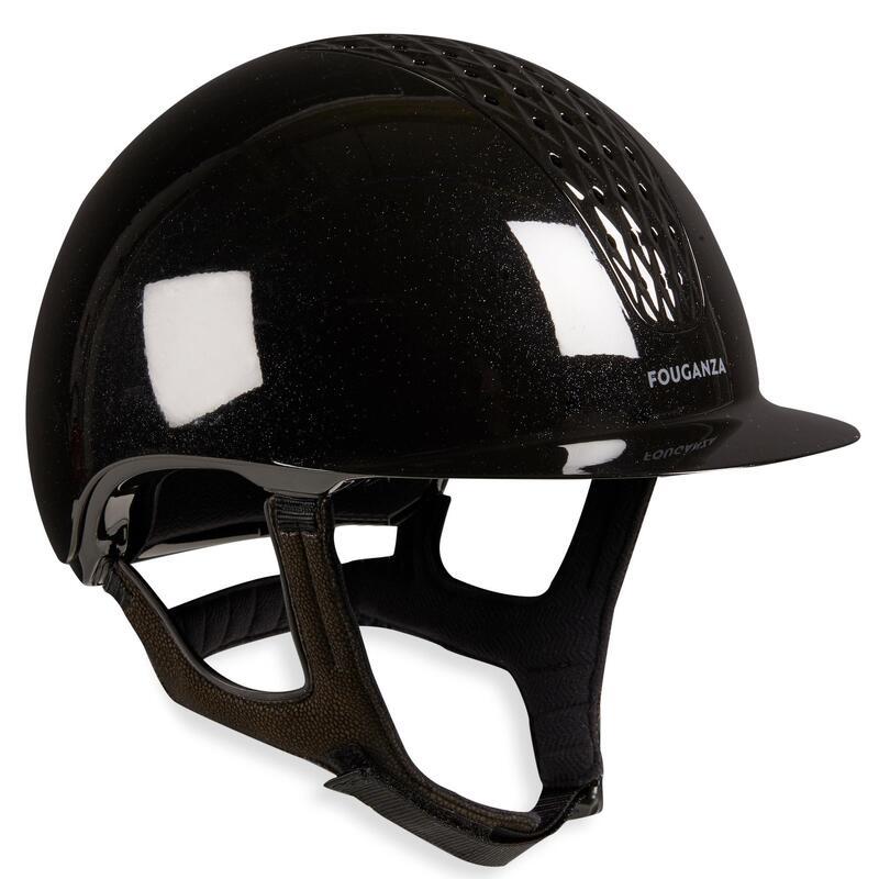 Jezdecká přilba 520 černá lesklá
