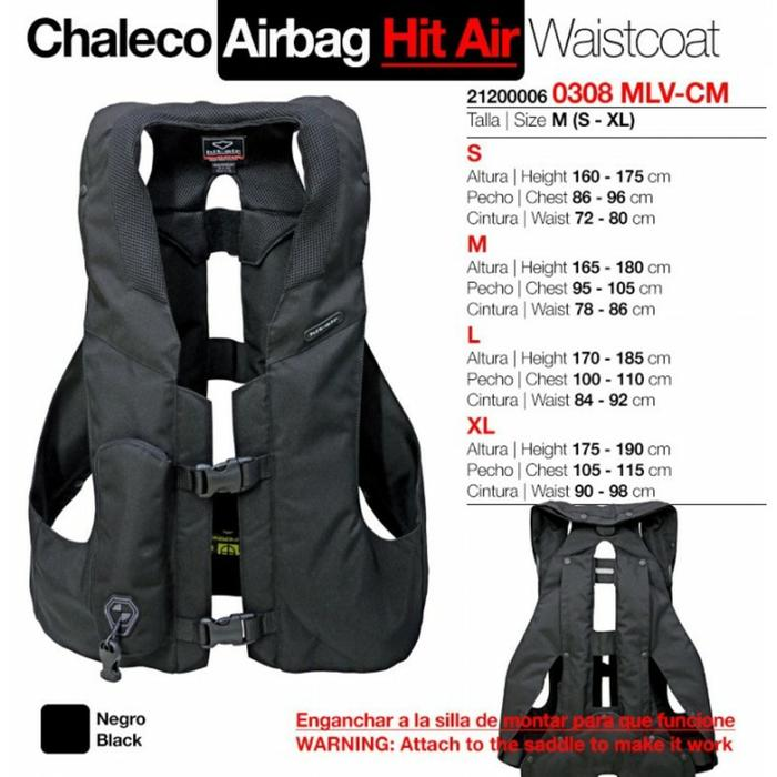 Chaleco seguridad airbag HIT-AIR