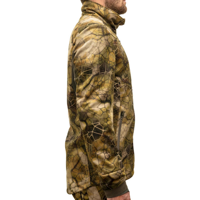 Veste Chasse Softshell Silencieuse 500 cmaouflage FURTIV