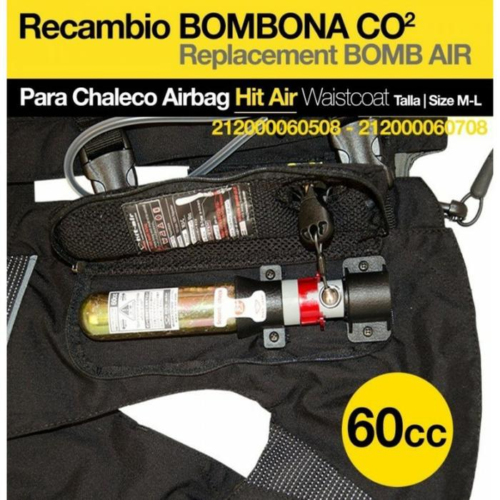 Bombona recambio chaleco Airbag HIT AIR