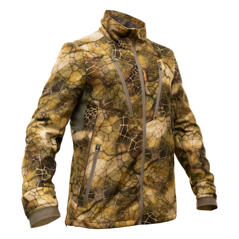 STALK CLOTHING DRY/WET WEATHER Shooting and Hunting - Softshell Jacket 500 FURTIV SOLOGNAC - Hunting and Shooting Clothing
