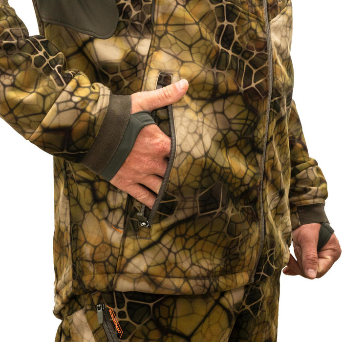 Veste Chasse Softshell Silencieuse 500 camouflage FURTIV