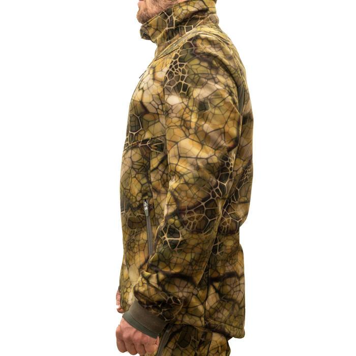 Veste Chasse Softshell Silencieuse 500 camouflage FURTIV