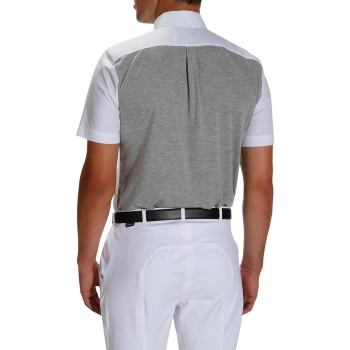 Chemise manches courtes Concours équitation homme bi-matière blanc et gris - 172685