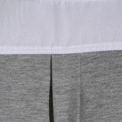 Herenhemd Concours met korte mouwen ruitersport twee materialen wit en grijs