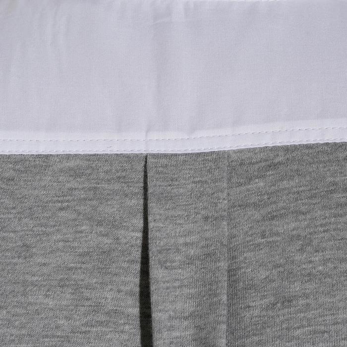 Turnier-Reithemd Kurzarm Bi-Material Herren weiß/grau