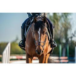 Bridon équitation 580 SURPIQUE marron - taille cheval