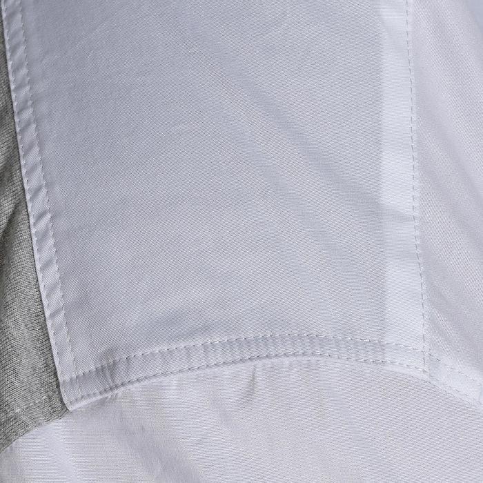 Chemise manches courtes Concours équitation homme bi-matière blanc et gris - 172690