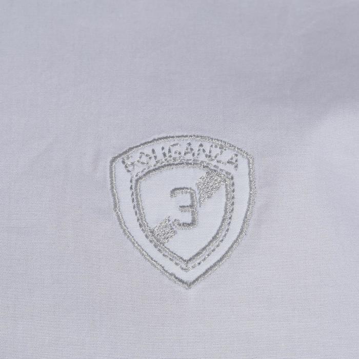 Chemise manches courtes Concours équitation homme bi-matière blanc et gris - 172693