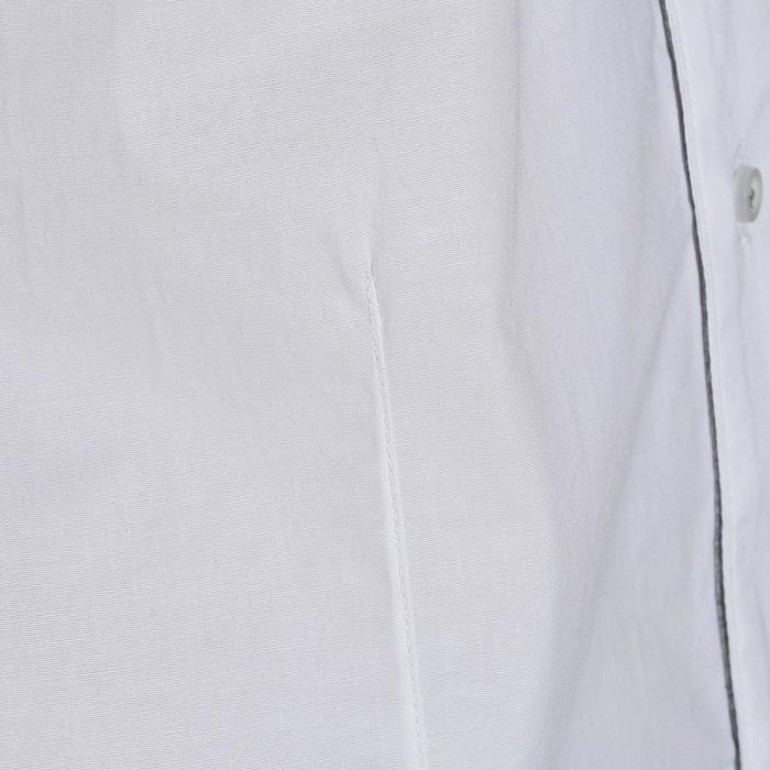 Chemise manches courtes Concours équitation homme bi-matière blanc et gris - 172694