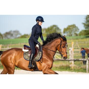 Pantalon équitation femme 500 basanes agrippantes marine