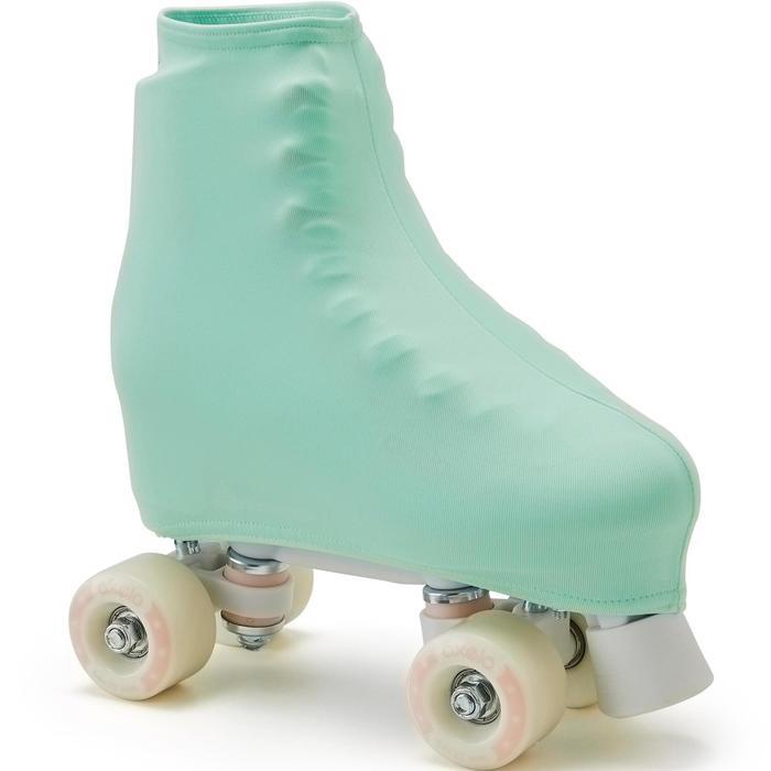 Kunstschaatshoes blauw groen