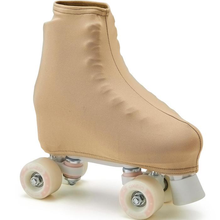 Cache-patins artistique beige