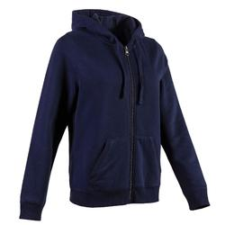 520 Women's Pilates & Gentle Gym Hooded Jacket - Navy Blue