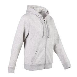 520 Women's Hooded Pilates & Gentle Gym Hooded Jacket - Light Grey
