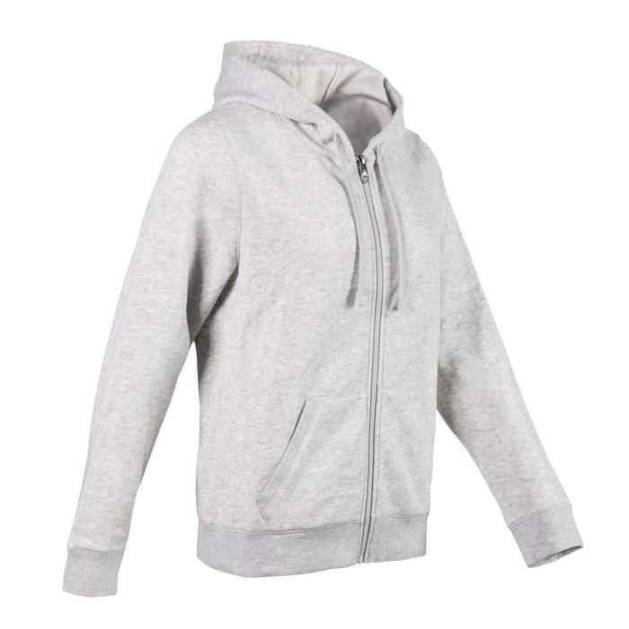 520 Women's Hooded Pilates & Gentle Gym Hooded Jacket - Light Grey