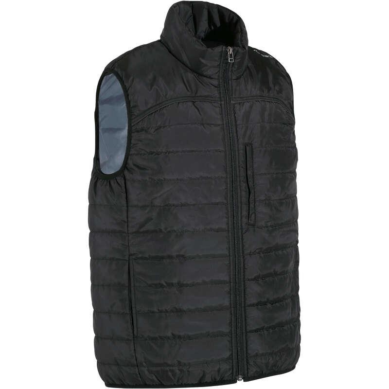 Férfi ruházat Lovaglás - Lovaglómellény 100-as, fekete FOUGANZA - Lovaglás