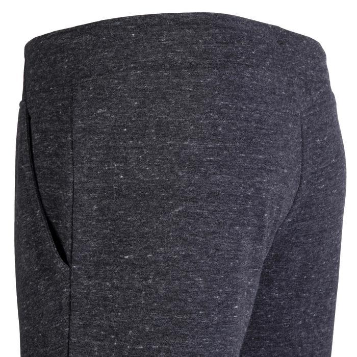 女款標準剪裁溫和健身與皮拉提斯長褲500 - 黑色