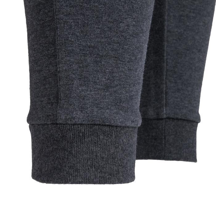 男款修身剪裁皮拉提斯溫和健身長褲560 - 深灰色