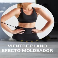 Mallas Legings Cardio Fitness Domyos 500 FTI efecto vientre plano mujer negro